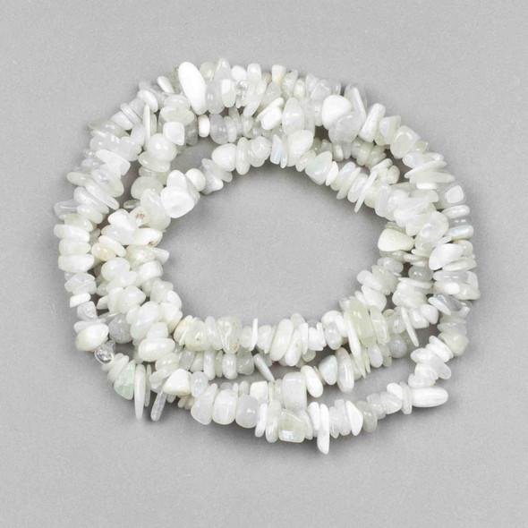 Moonstone 5-8mm Chip Beads - 34 inch circular strand