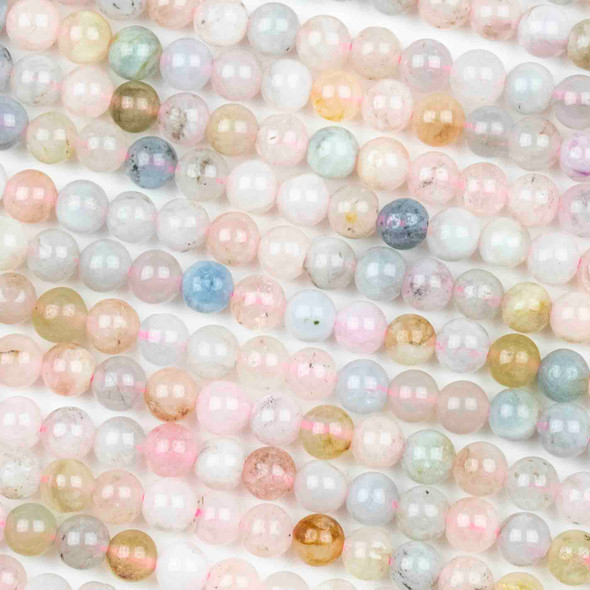 Morganite 4mm Round Beads - Approx. 15 inch strand