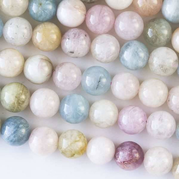 Morganite 10mm Round Beads - 16 inch strand