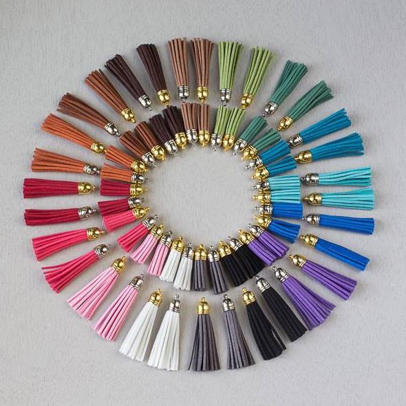 Bulk Mix of 100 Microsuede Tassels