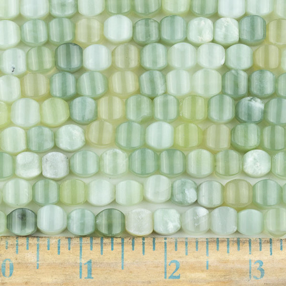 New Jade 8mm Cushion Beads - approx. 8 inch strand, Set A