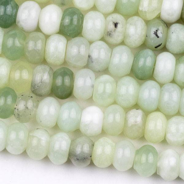 New Jade 5x8mm Rondelle Beads - approx. 8 inch strand, Set A