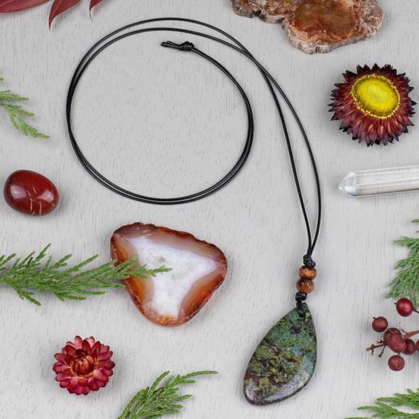 Dragon Blood Jasper Free Form Pendant Necklace Kit - nkit-03