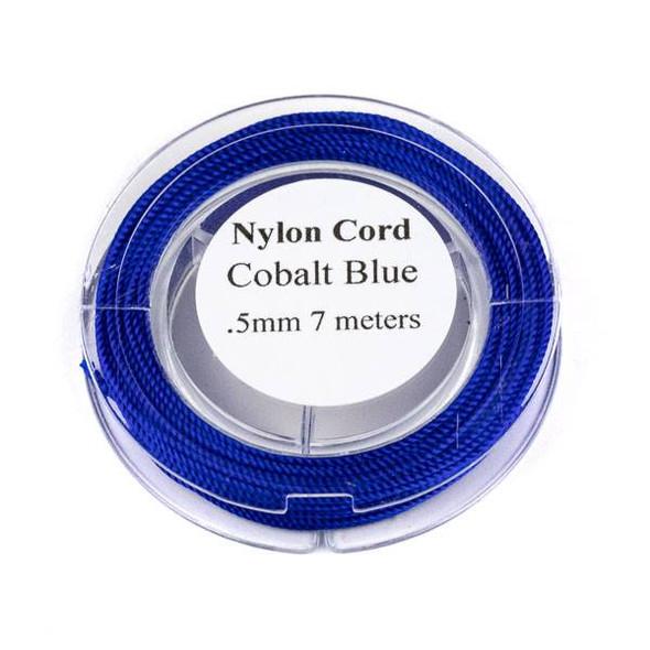 Nylon Cord - Cobalt Blue, .5mm, 7 meter spool