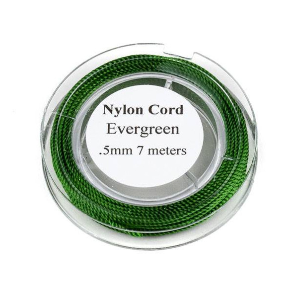 Nylon Cord - Evergreen , .5mm, 7 meter spool