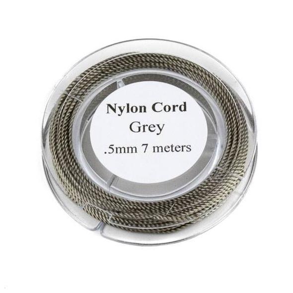 Nylon Cord - Grey, .5mm, 7 meter spool