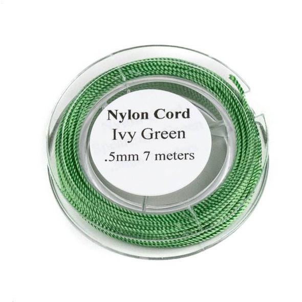 Nylon Cord - Ivy Green, .5mm, 7 meter spool