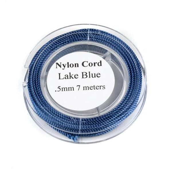 Nylon Cord - Lake Blue, .5mm, 7 meter spool