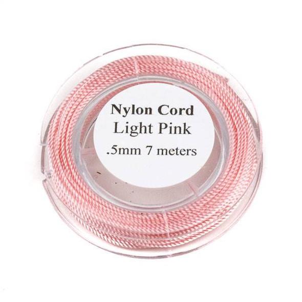 Nylon Cord - Light Pink, .5mm, 7 meter spool