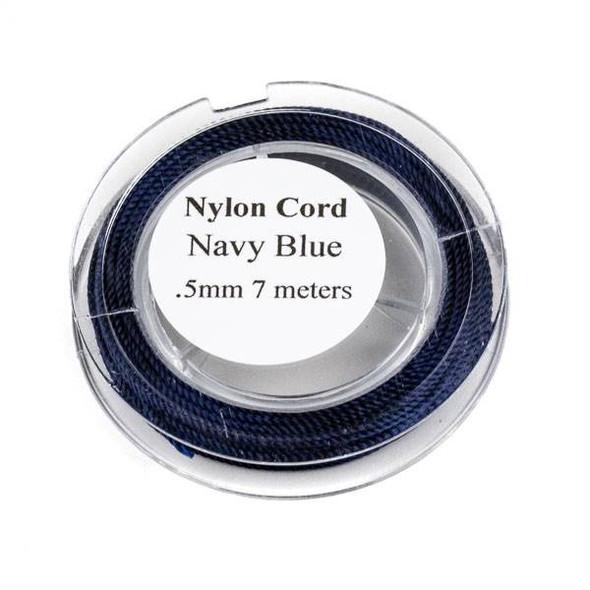 Nylon Cord - Navy Blue, .5mm, 7 meter spool
