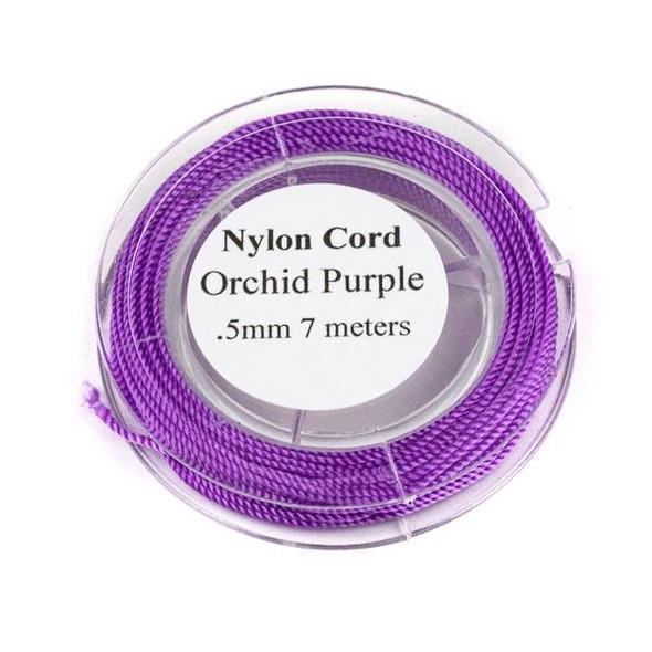 Nylon Cord - Orchid Purple, .5mm, 7 meter spool