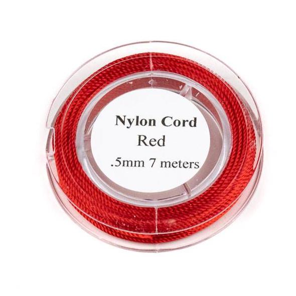 Nylon Cord - Red, .5mm, 7 meter spool