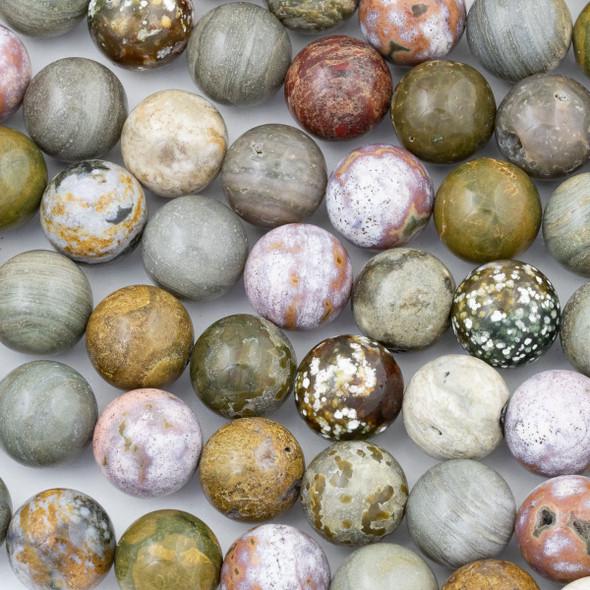 Ocean Jasper 16mm Round Beads - 15 inch strand