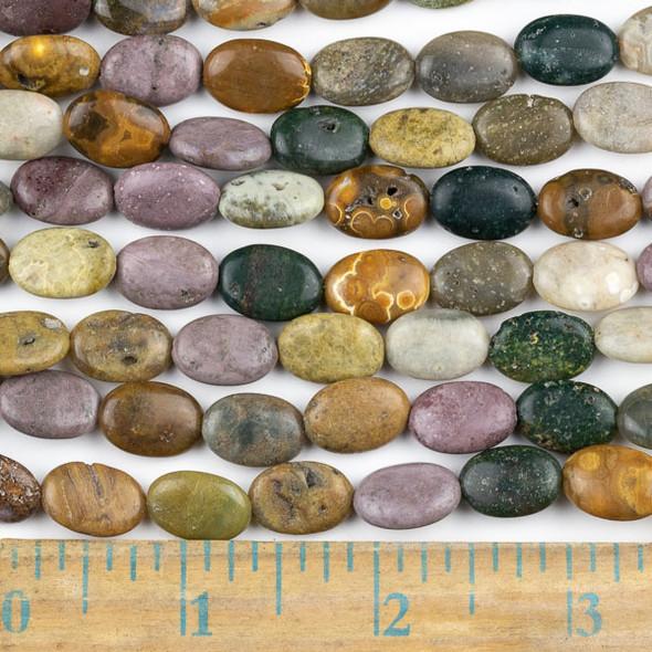 Ocean Jasper 10x14mm Oval Beads - approx. 8 inch strand, Set A