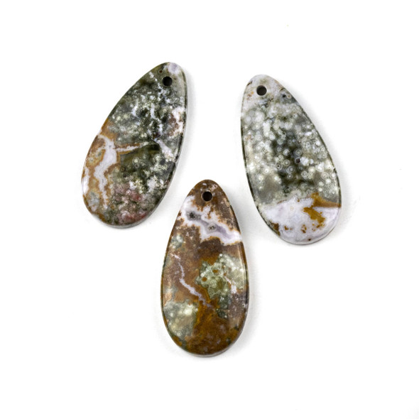 Ocean Jasper 20x40mm Teardrop Pendant - 1 per bag
