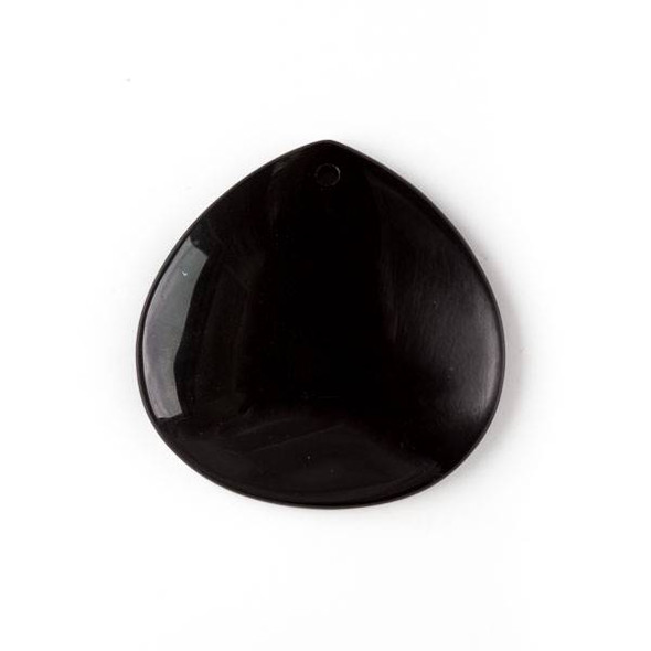 Onyx 40mm Top Front to Back Drilled Almond Pendant with a Flat Back