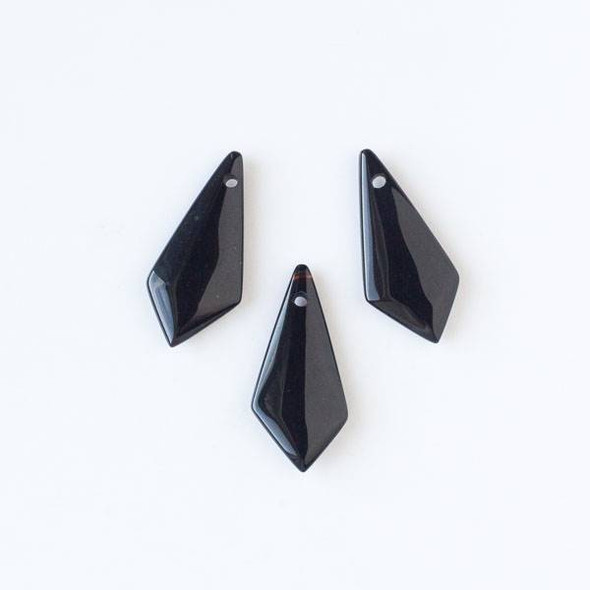 Onyx 16x35mm Irregular Diamond Pendant
