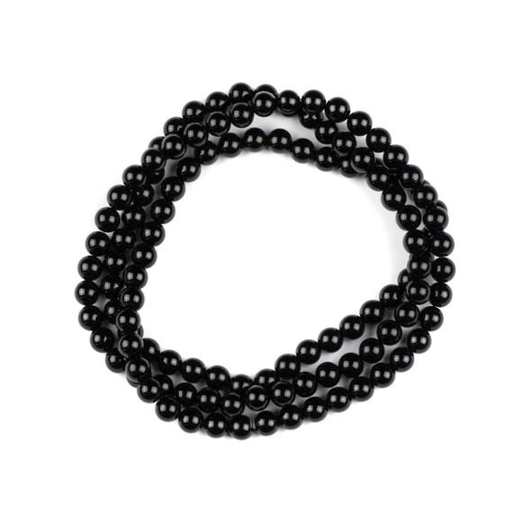 Onyx 6mm Mala Round Beads - 29 inch strand