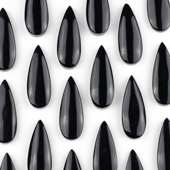 Onyx 15x37mm Top Drilled Teardrop Pendant - 1 per bag