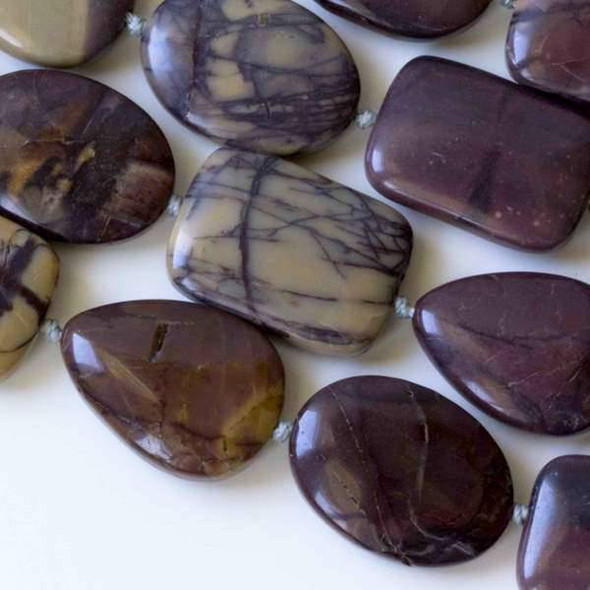 Purple Cherry Creek Jasper 18x25mm Alternating and Knotted Ovals, Teardrops, and Rectangles
