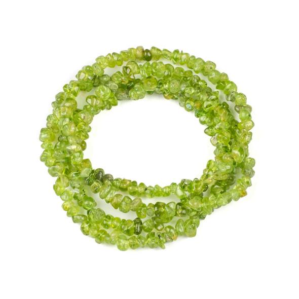 "Peridot 5-8mm Chip Beads - 34"" circular strand"