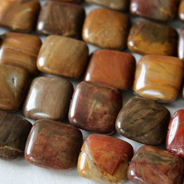 Petrified Wood Jasper 14mm Square