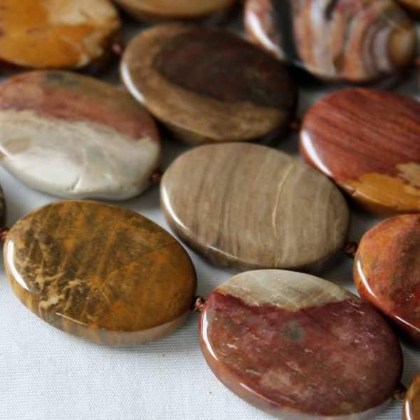 Petrified Wood Jasper 18x25mm Knotted Oval
