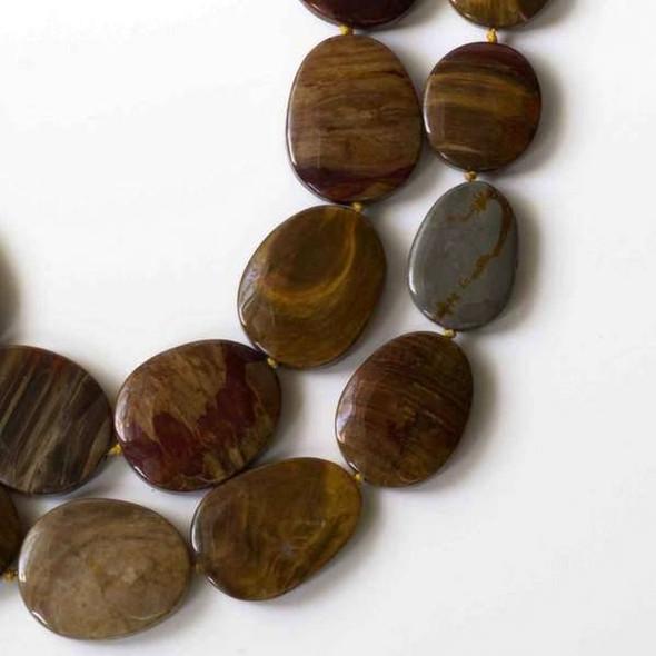 Petrified Wood Jasper 20x25mm-30x40mm Free Form, Graduated, And Knotted Slabs