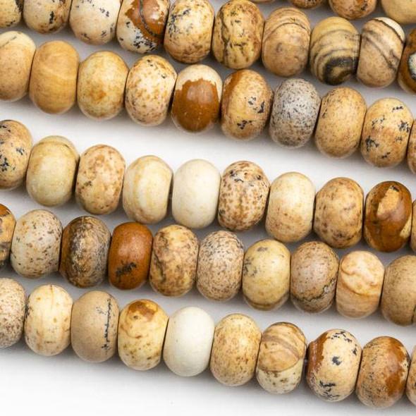 Picture Jasper 5x8mm Rondelle Beads - 15 inch strand