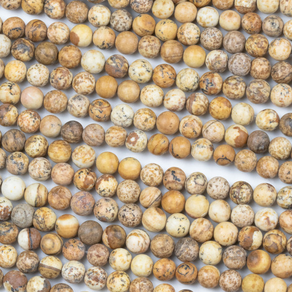 Picture Jasper 6mm Round Beads - 15 inch strand