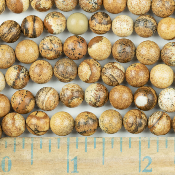 Picture Jasper 8mm Round Beads - approx. 8 inch strand, Set A