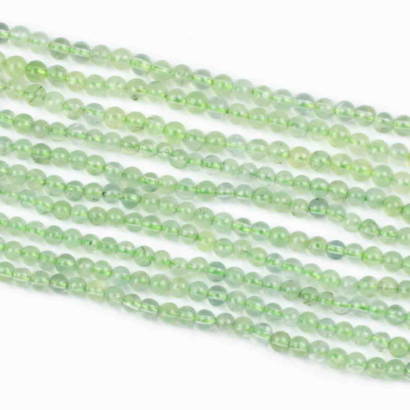 Prehnite 4mm Round Beads - 15 inch strand