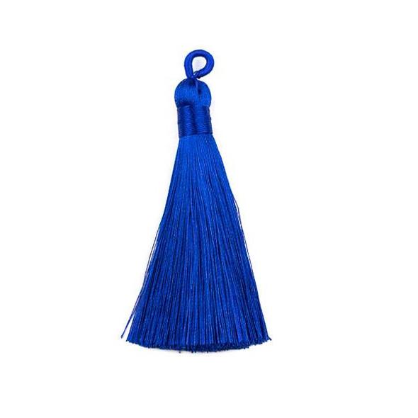 "Cobalt Blue 3"" Silky Thread Tassels - 2 per bag"