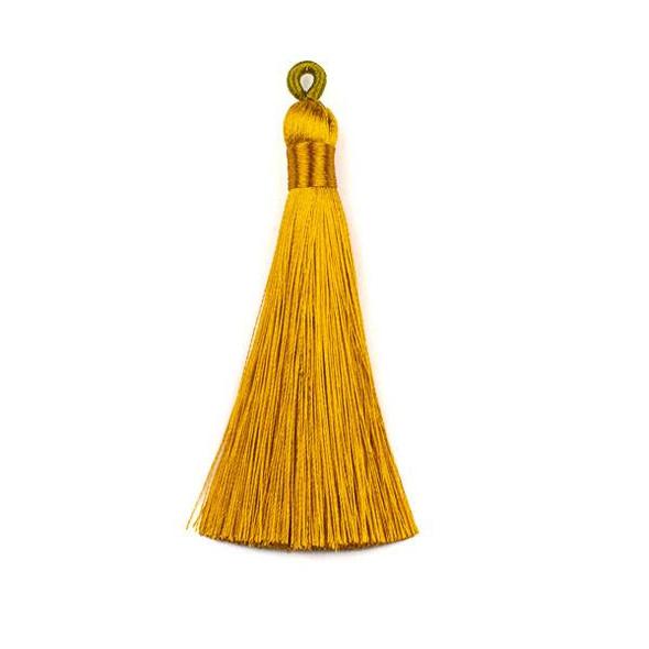 "Golden Yellow 3"" Silky Thread Tassels - 2 per bag"