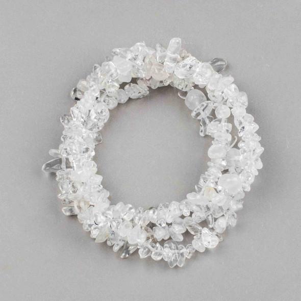 "Quartz 5-8mm Chip Beads - 34"" circular strand"