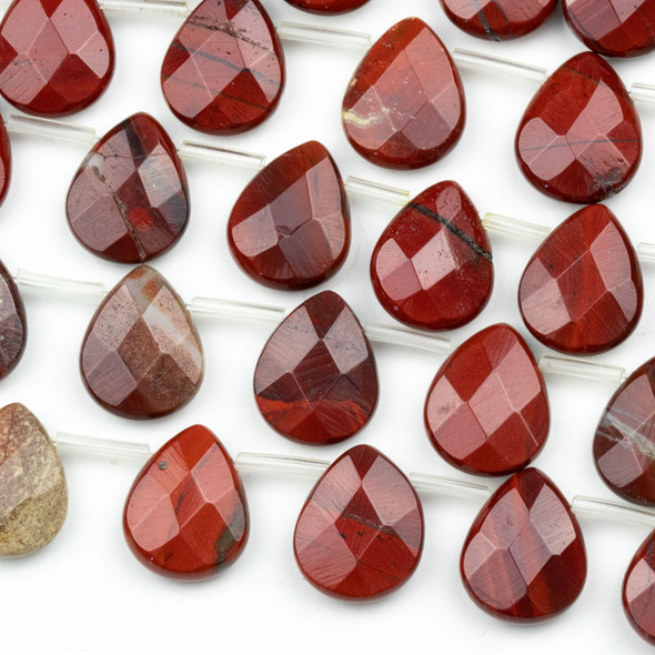 Rainbow Jasper Faceted 12x15mm Top Drilled Teardrop Beads - approx. 8 inch strand, Set B