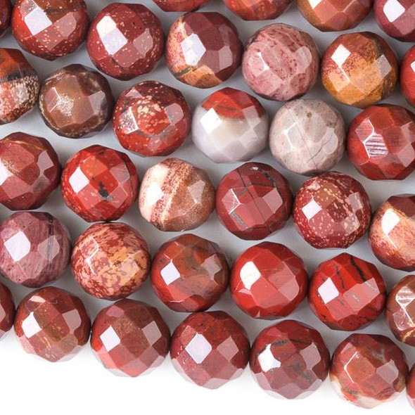 Rainbow Jasper Faceted 10mm Round Beads - approx. 8 inch strand, Set B