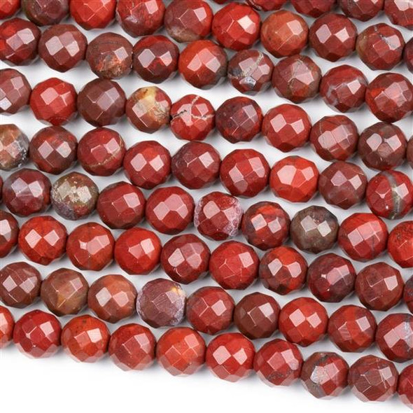 Rainbow Jasper Faceted 6mm Round Beads - approx. 8 inch strand, Set B