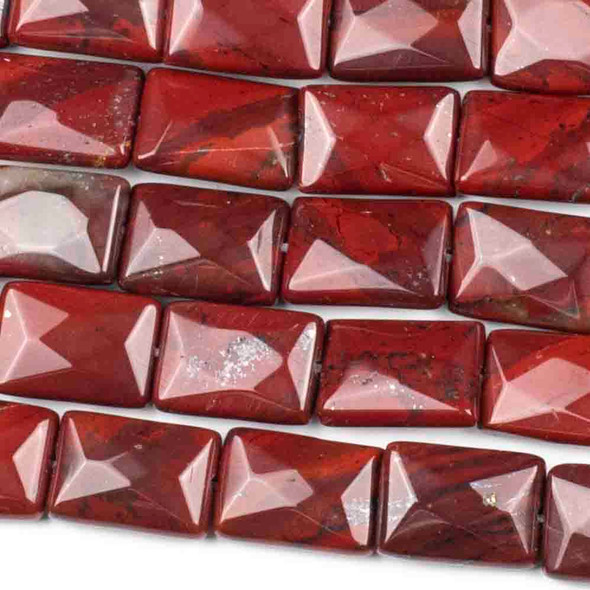 Rainbow Jasper Faceted 10x14mm Rectangle Beads - approx. 8 inch strand, Set B
