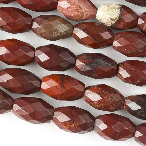 Rainbow Jasper Faceted 8x12mm Rice Beads - approx. 8 inch strand, Set B
