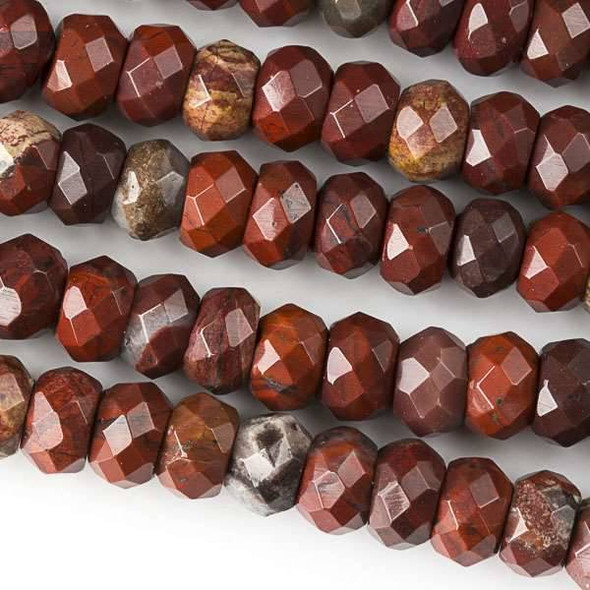 Rainbow Jasper Faceted 5x8mm Rondelle Beads - approx. 8 inch strand, Set B