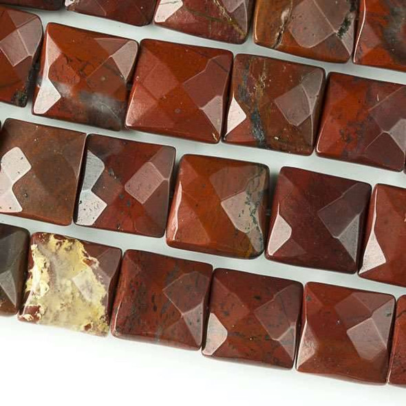 Rainbow Jasper Faceted 10mm Square Beads - approx. 8 inch strand, Set B