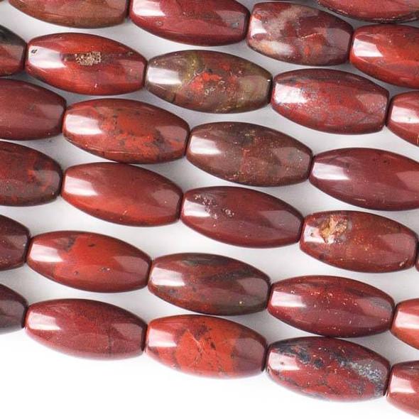 Rainbow Jasper 7x15mm Rice Beads - 8 inch strand