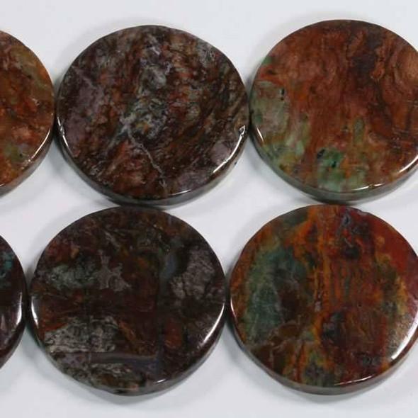 Rainbow Agate 30mm Coin