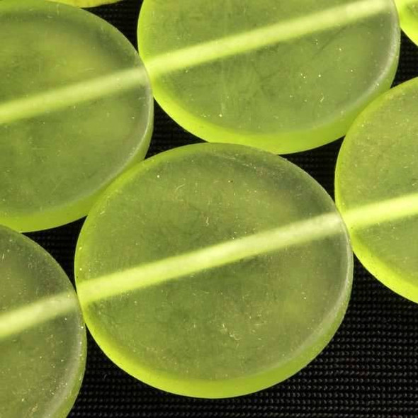 Resin 25mm Coin - Spring Green