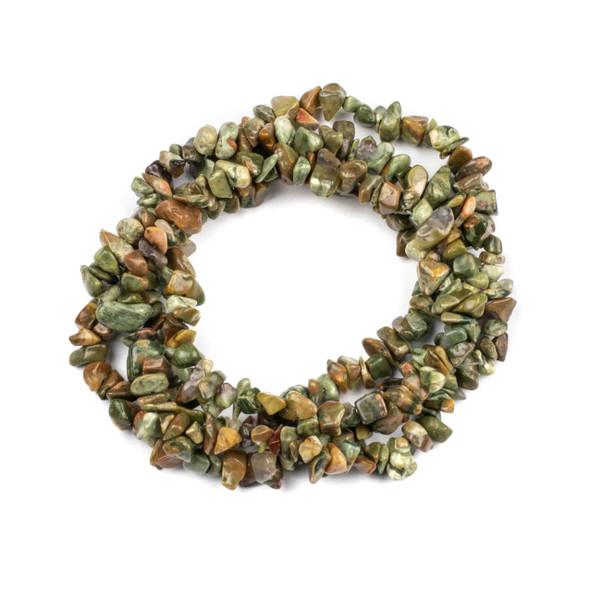 "Rhyolite 5-8mm Chip Beads - 34"" circular strand"