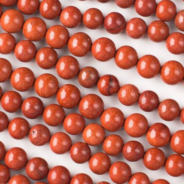 Red Jasper 8mm Rounds - 16 inch strand