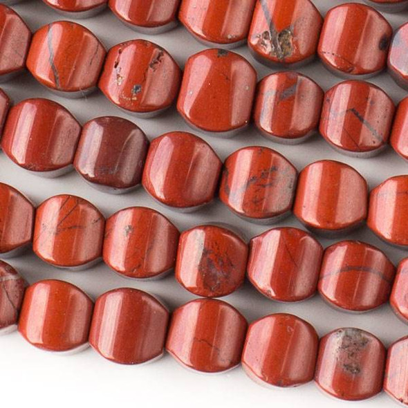Red Jasper 8mm Cushion Beads - approx. 8 inch strand, Set A