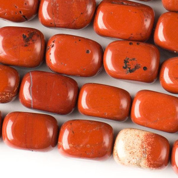 Red Jasper 10x14mm Nugget Beads - approx. 8 inch strand, Set A