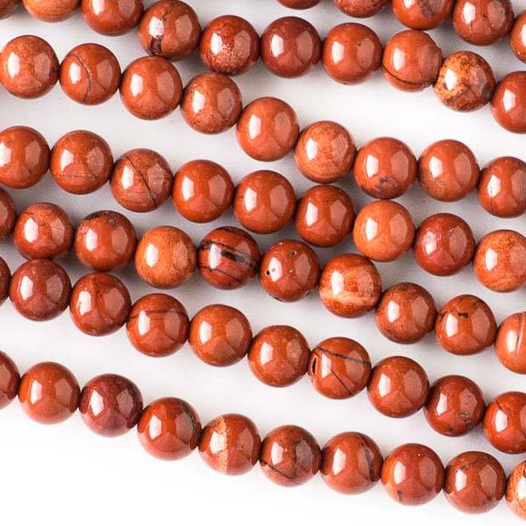 Red Jasper 6mm Round Beads - approx. 8 inch strand, Set A